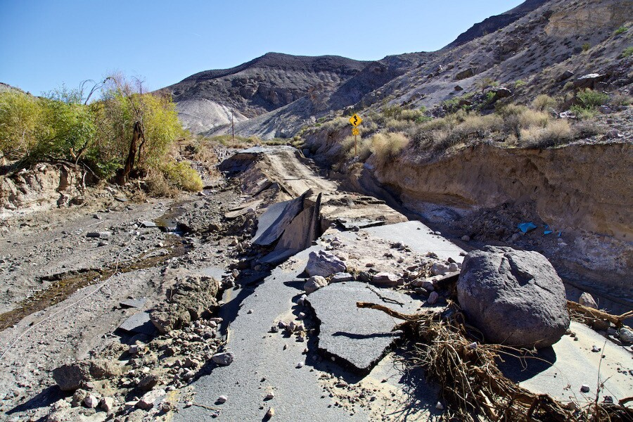 Flood Damage to Scotty's Castle Road - Death Valley, CA - 2015