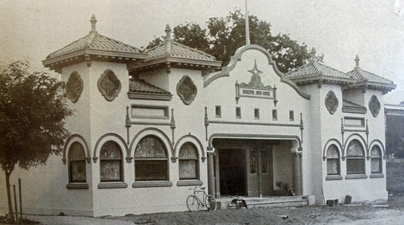 The Fairbairn Building Municipal Bath House at 840 11th St., Paso Robles.   Photo: Courtesy of the Paso Robles Historical Society.