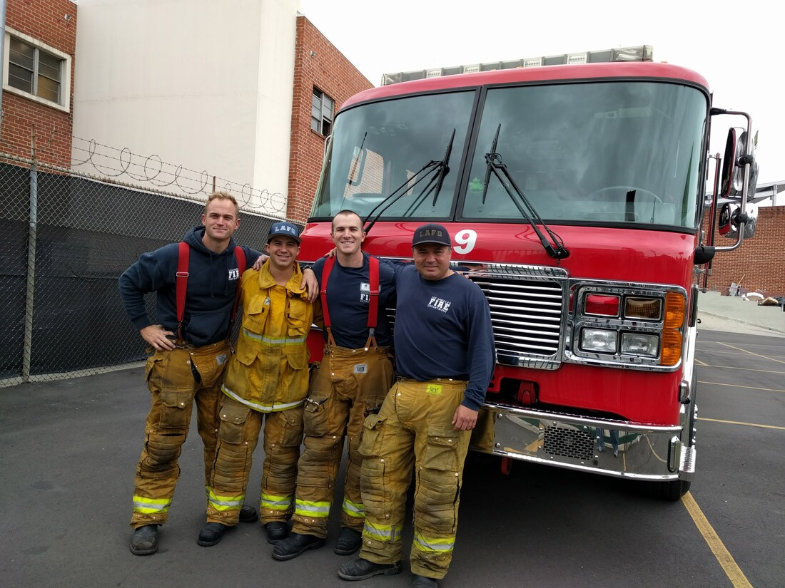 LAFD Station 9 Firefighters
