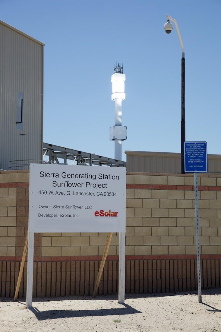 """Sierra SunTower Generating Station."" Lancaster, CA. 2010.   Photo: Osceola Refetoff."