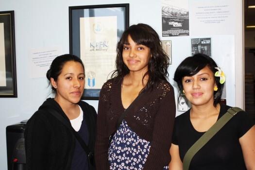 Jessica Cueva, Brenda Solis and Sussete Nuñez are terrified.