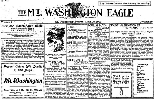 This faux-newspaper was an advertising insert in the Los Angeles Times, September 5, 1909