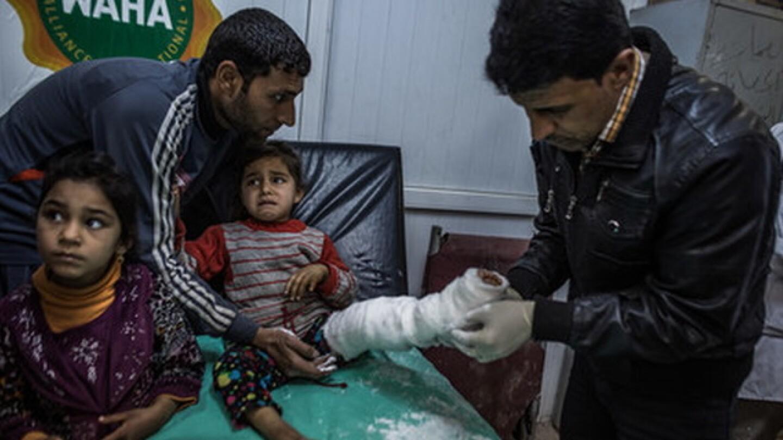 Injured Iraqi Girl