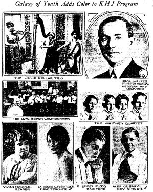 In July 1924, The Gaylord Aparments sponsored a radio program featuring young talents | Los Angeles Times, July 19, 1924