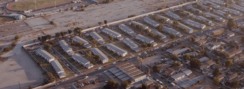 Bird's eye view of Jordan Down housing project