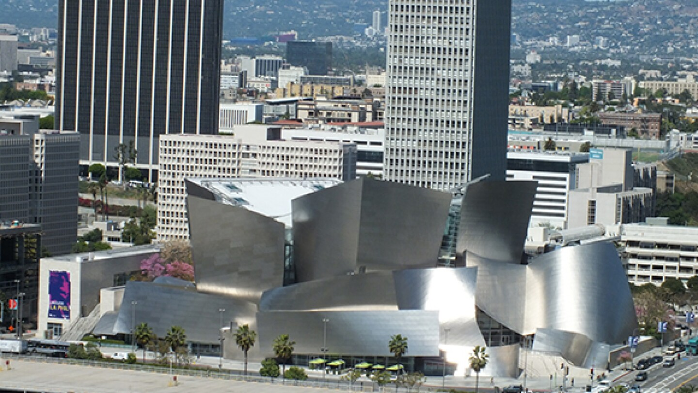 Disney Hall from City Hall | Photo: Carolyn Campbell.
