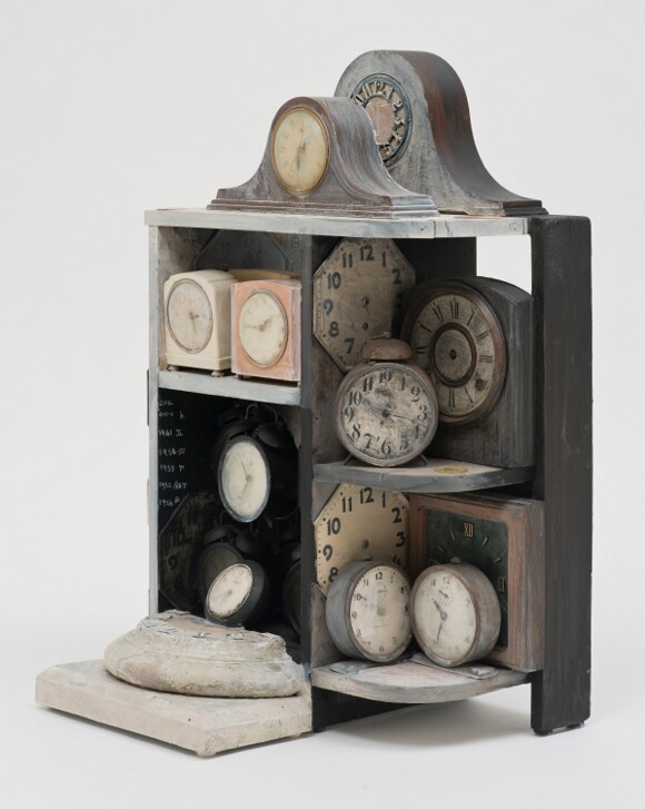 "Betye Saar, ""Still Ticking,"" 2005. Mixed media assemblage, 29.5 x 19 x 16 in. (74.9 x 48.3 x 40.6 cm). 