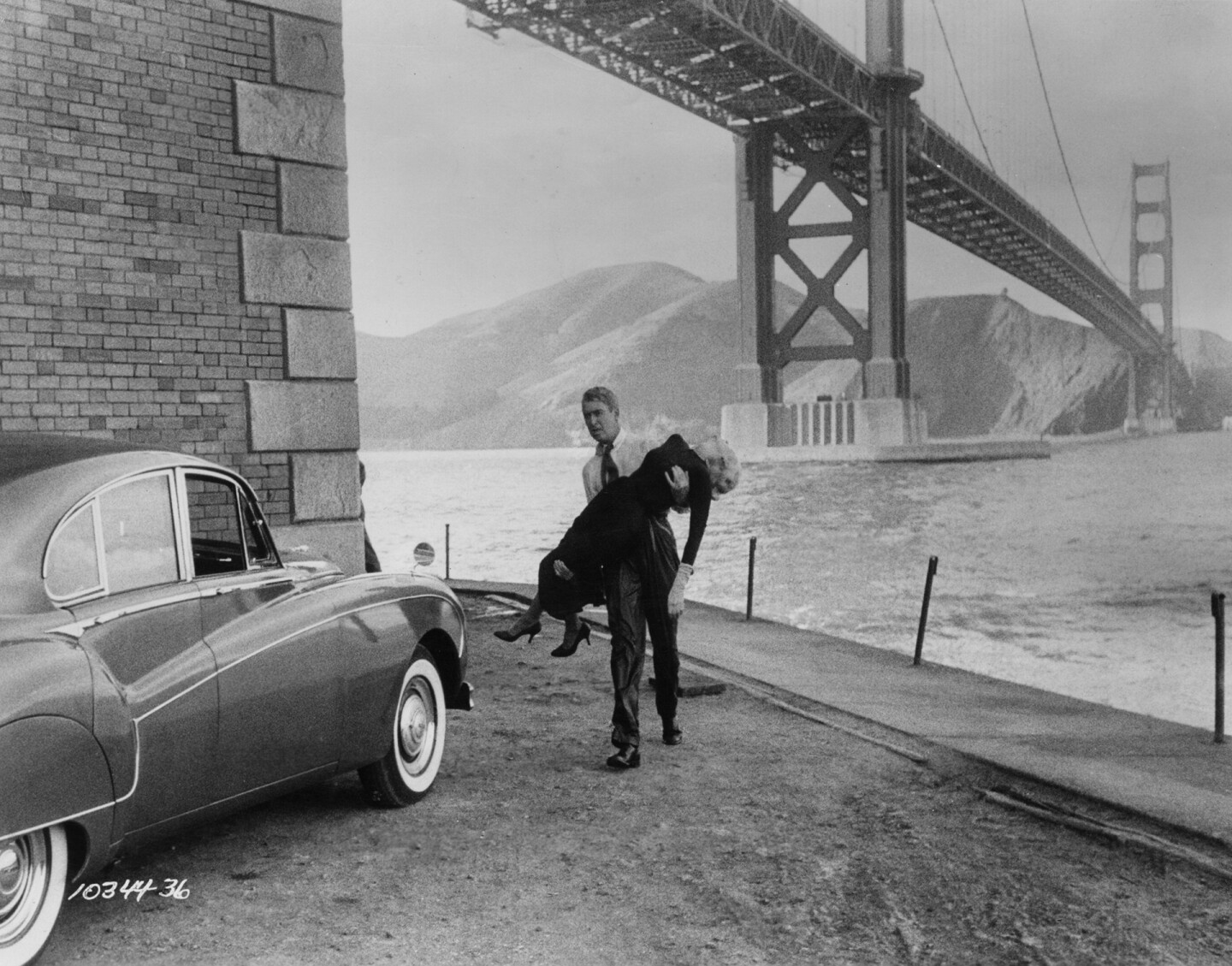 San Francisco's meeting of land and water at Fort Point, location for Alfred Hitchcock's Vertigo (1958). Universal Studios