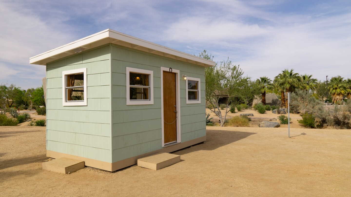 Kim Stringfellow's Jackrabbit Homestead created for Desert X 2021 is a 122-square-foot cabin