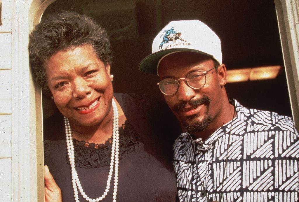 American poet Maya Angelou and film director John Singleton
