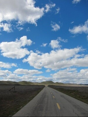 Soda Lake Road in the Carrizo Plain | Photo by Zach Behrens/KCET
