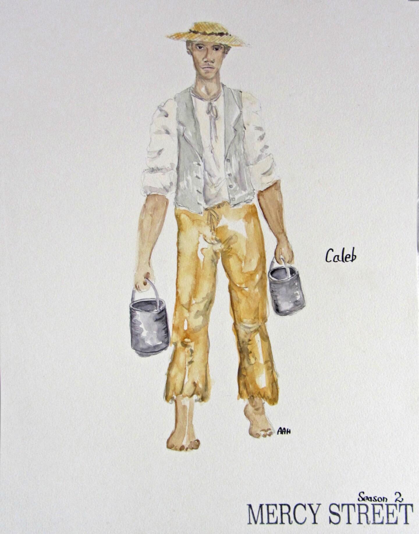 Caleb Costume Sketch - Mercy Street