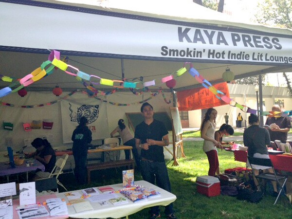 Kaya Press Booth at the Los Angeles Festival of Books