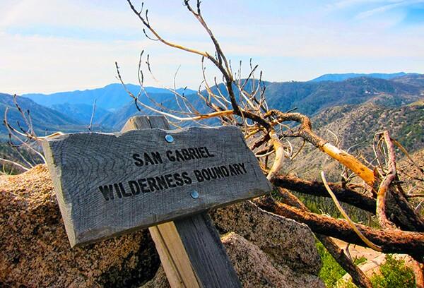 Boundary of the San Gabriel Wilderness on Three Points trail | Photo: Daniel Medina