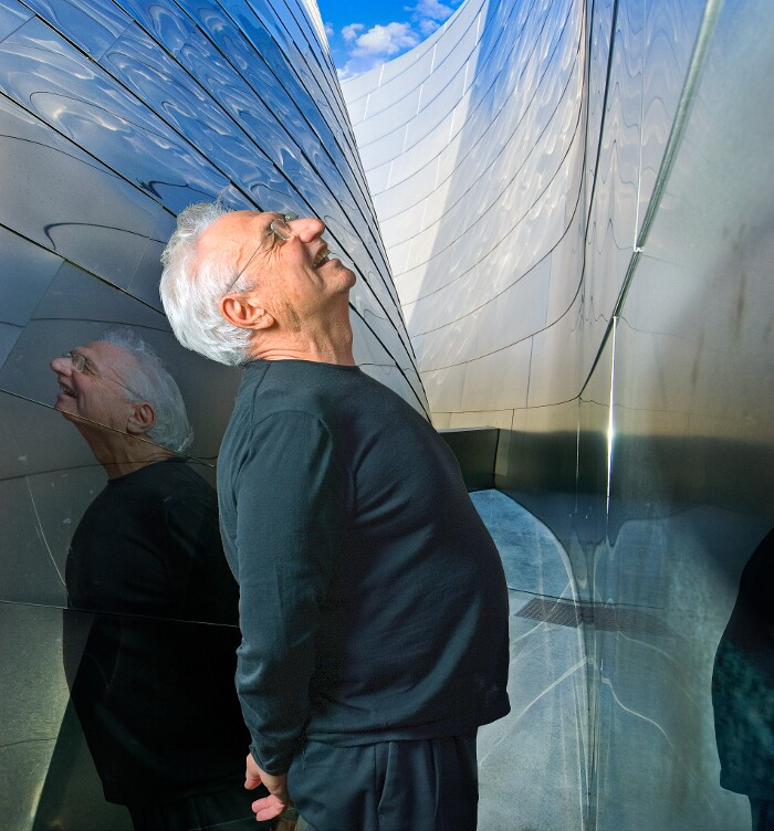 Architect Frank Gehry at the Walt Disney Concert Hall. | Photo: Harry B. Chandler.