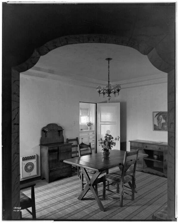 Dining Room in the Huntington Park Electric House (Call Number: 02 - 19035; Date: 12/23/1935)
