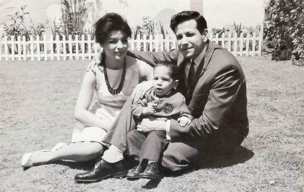 A young ​Rubén Martinez with his parents | Courtesy of Rubén Martinez
