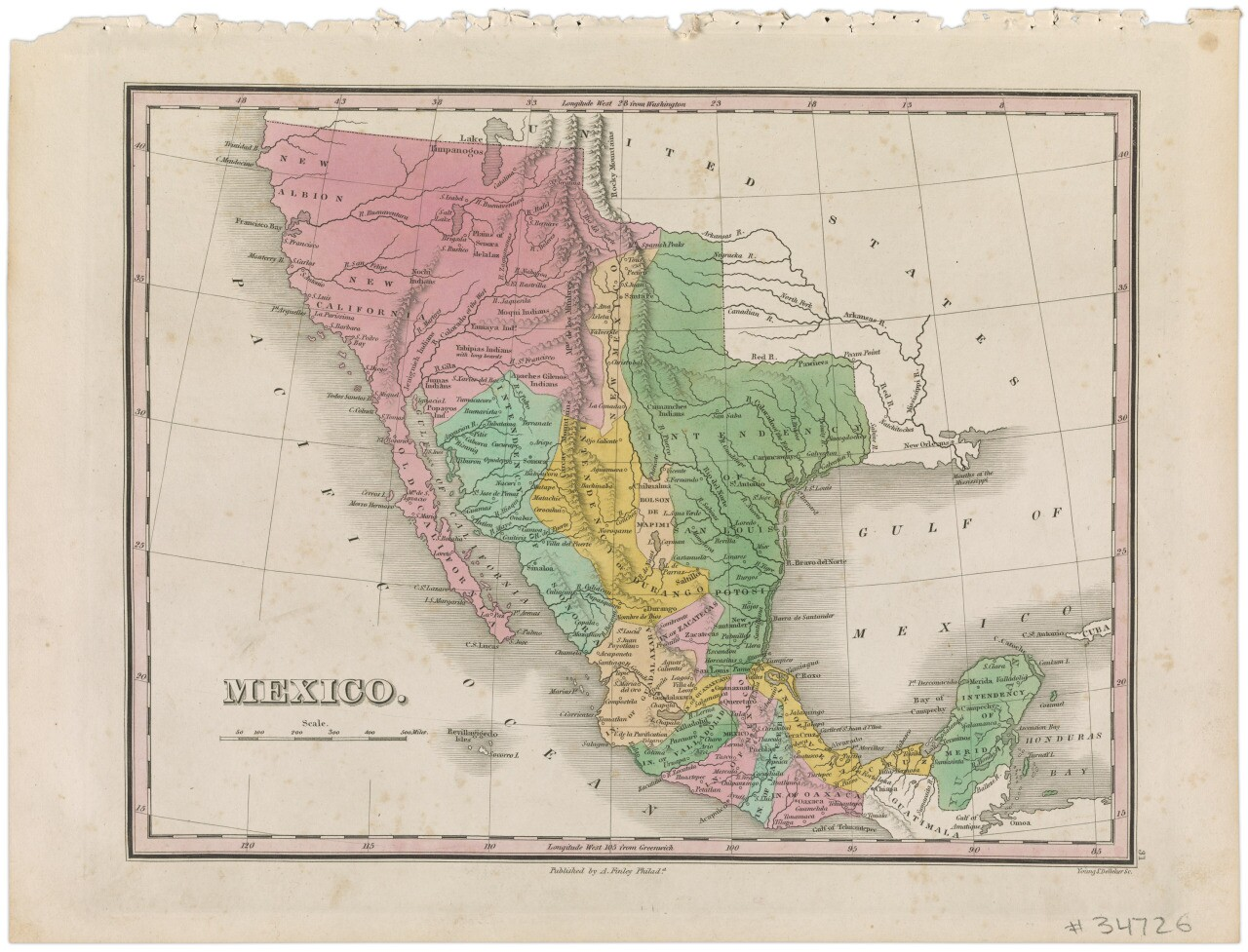 "William Lizars,  ""Maps depicting the border between Mexico and the United States over time,"" 1828. 