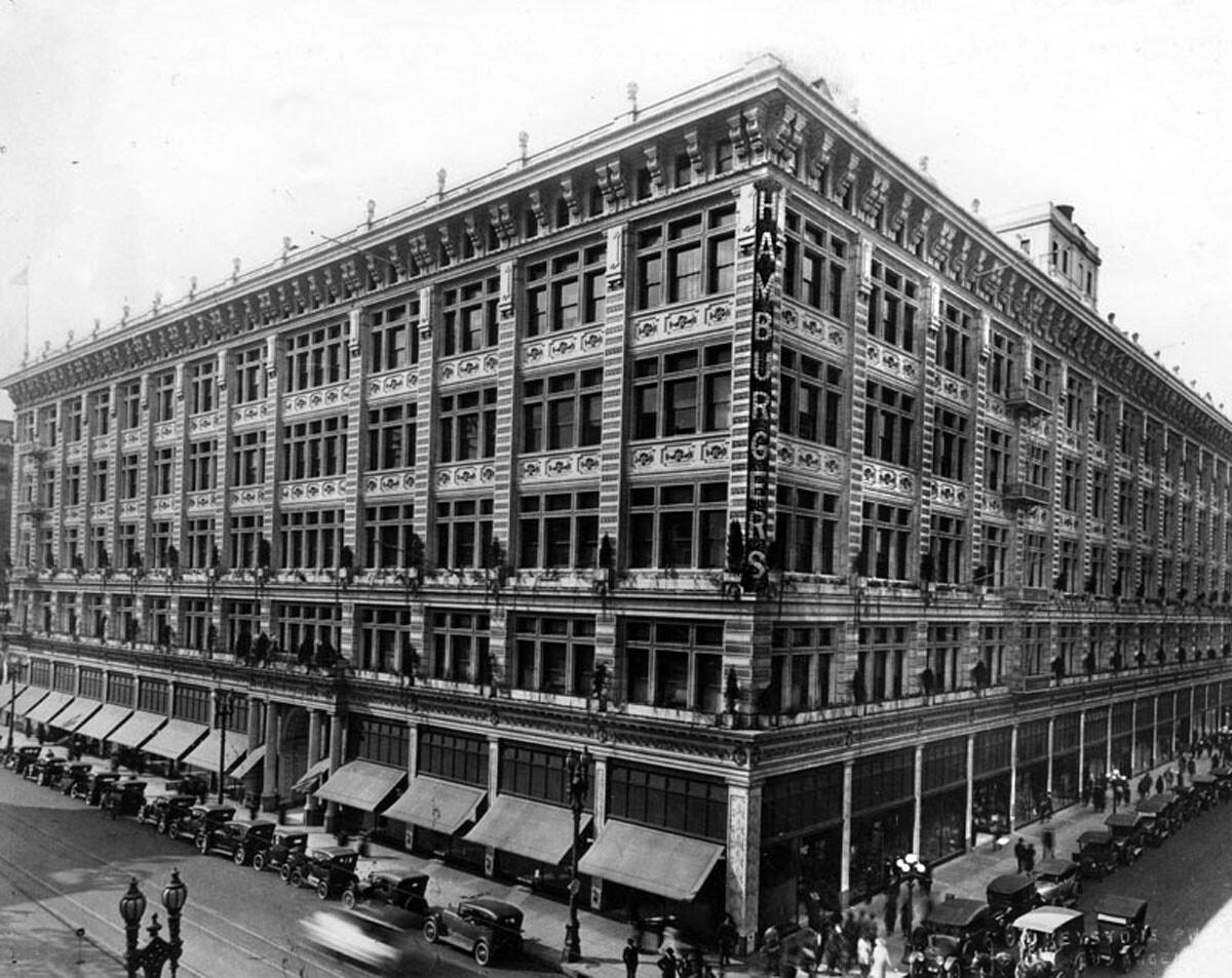 Hamburger's Department Store, ca1920.
