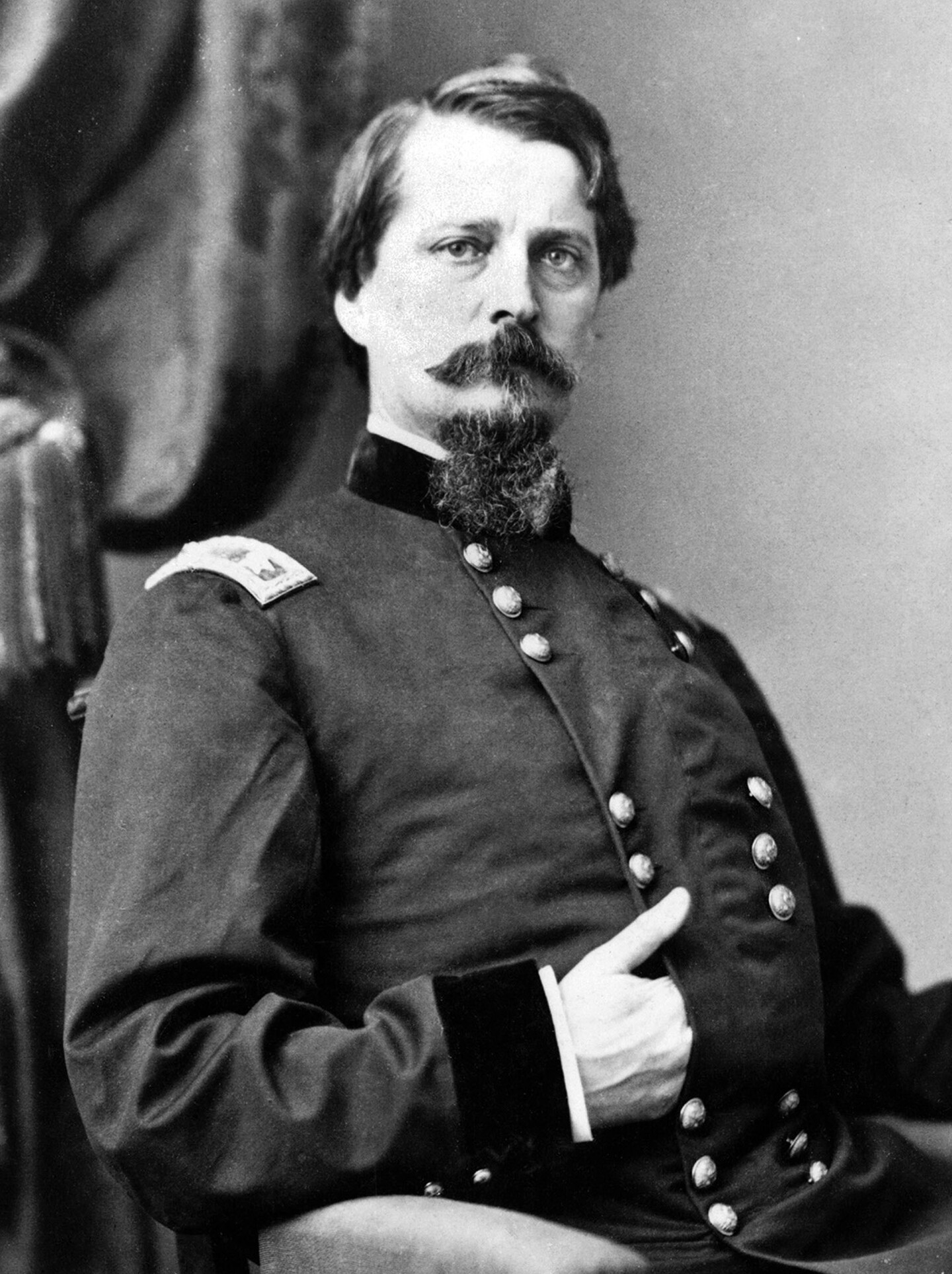 Winfield Scott Hancock. Hancock, like many Californians, did not favor abolition, but he would fight to preserve the Union. Photograph from Wikimedia