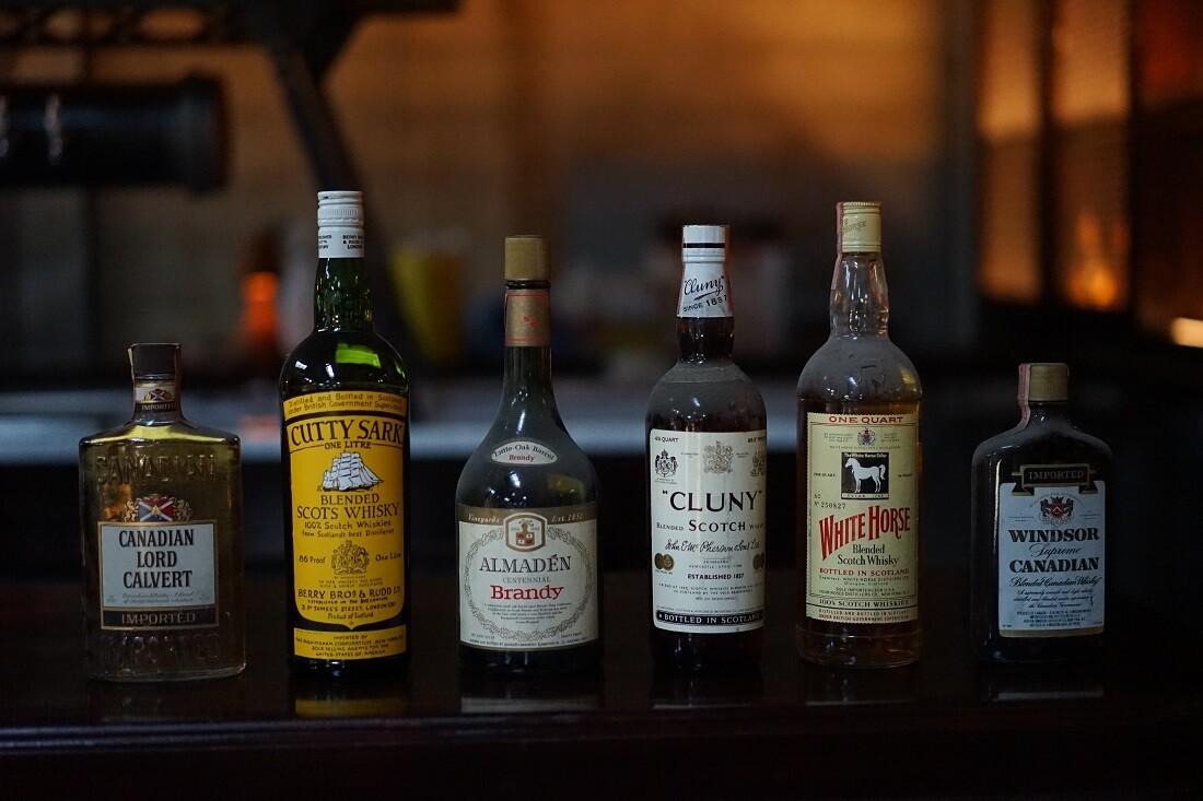 Highland Park Bowl: Liquor form the seventies.