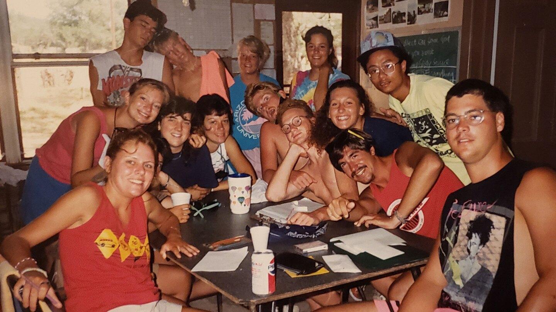 Anil Shahi with fellow camp counsellors at YMCA Camp Grady Spruce, Grafford, Texas, 1990. | Courtesy of Anil Shahi