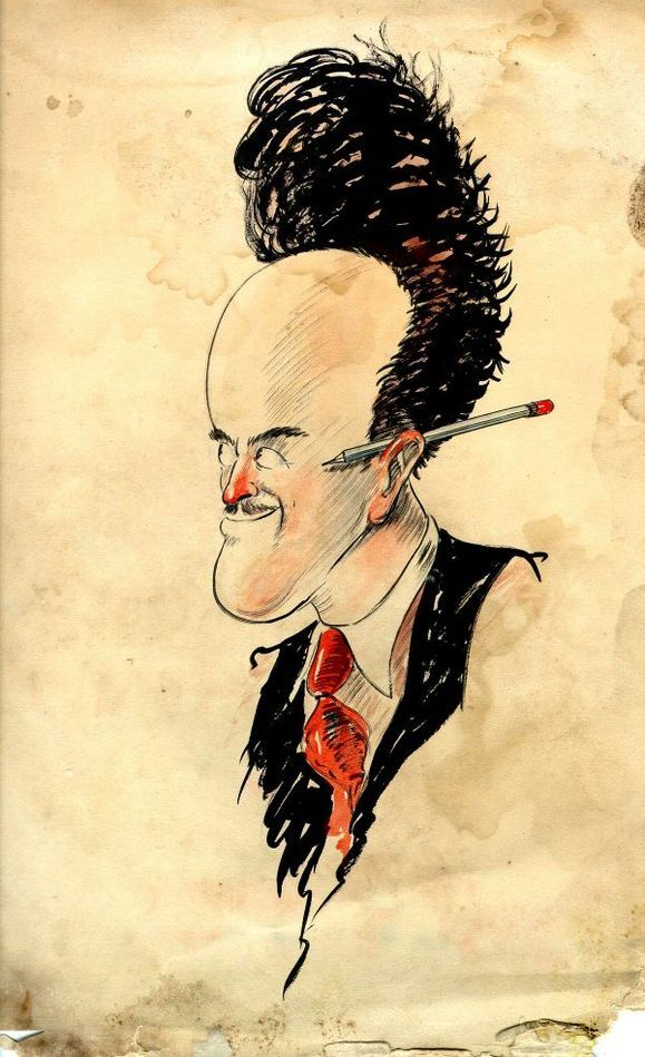 Self-portrait of Ub Iwerks | Courtesy of Animation Resources