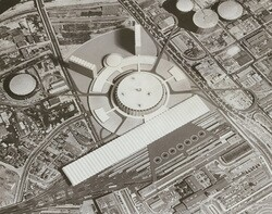 A 1958 plan for Union Station. USC Libraries / Los Angeles Examiner Collection