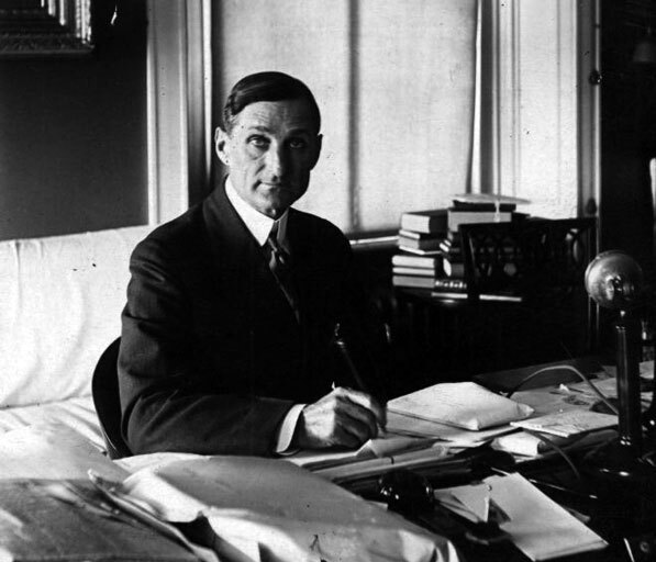 William Gibbs McAdoo in his Washington, D.C. office. Courtesy of the Keystone-Mast Collection, UCR/California Museum of Photography, University of California at Riverside.