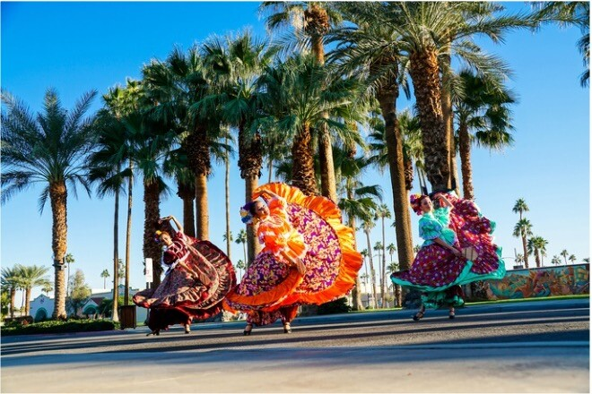 Dancers from Indio's City of Festivals.