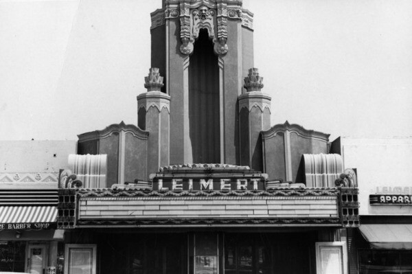 Leimert Theater marquee, 1968 | Security Pacific National Bank Collection , courtesy of the Los Angeles Public Library