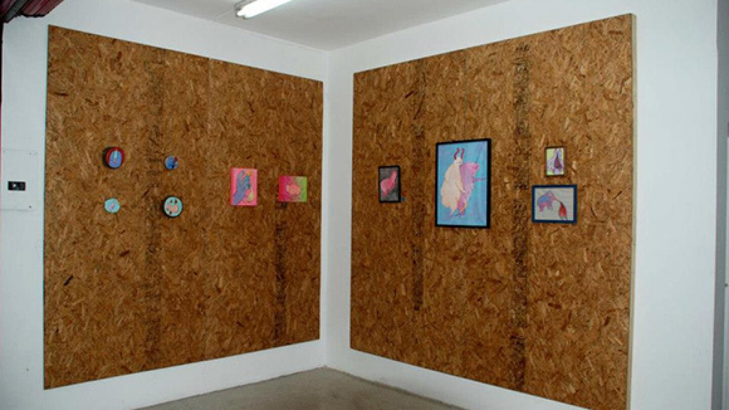 """Currently on view at 206 is """"Zoofilia,"""" a solo exhibition of the work of local street artist Panca."""