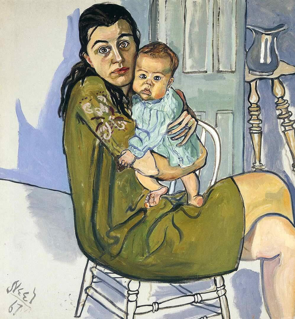 Alice Neel's Nancy and Olivia, 1967 | Flickr / Gandalf's Gallery