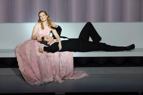Paula Murrihy and Liam Bonner in the title roles of Dido and Aeneas. Photo: Craig Mathew / LA Opera