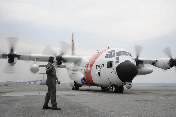 Seven HC-130H planes like this one will be transferred from the Coast Guard to the Forest Service to use in fighting wildfires.