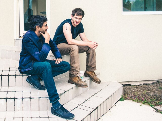 99 Homes Writer and Director Ramin Bahrani with actor Andrew Garfield I Photo Courtesy of Broad Green Pictures