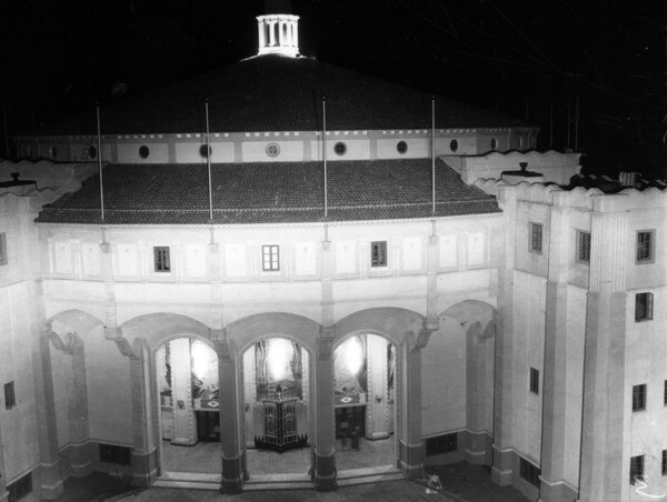 Catalina Casino entrance, ca. 1940 | Security Pacific National Bank Collection, Los Angeles Public Library
