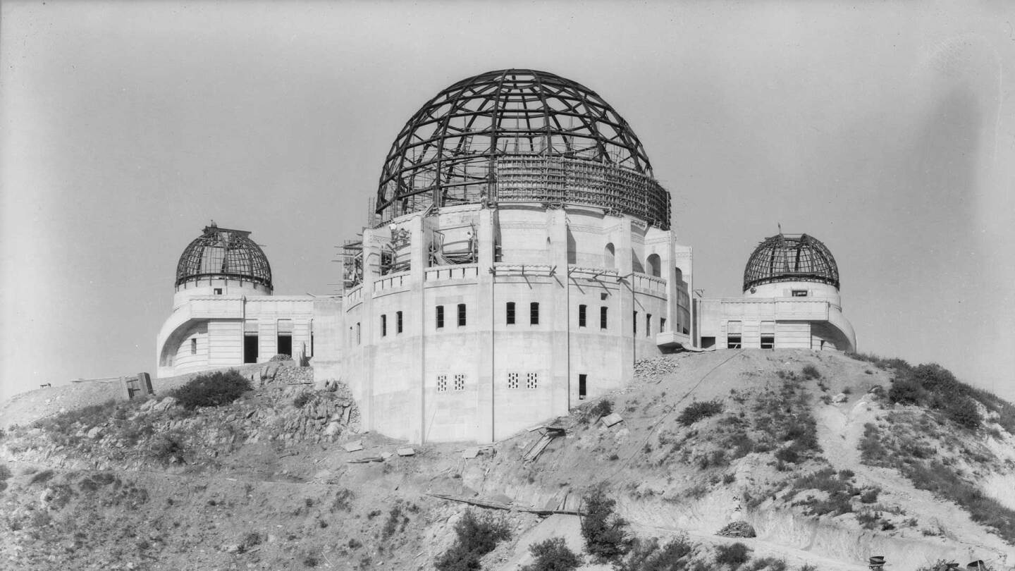 Griffith Observatory in construction | Courtesy of Dick Whittington Photography Collection,1924-1987, University of Southern California Libraries