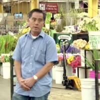 "John Kono in Flower Market | From ""Southern California Flower Market: A Japanese American Business Blooms"""