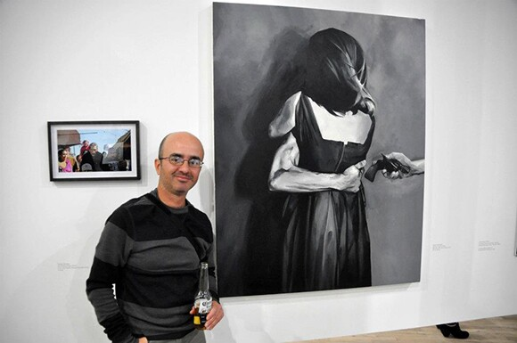 Pablo Castañeda exhibiting his work at Artists Space in New York