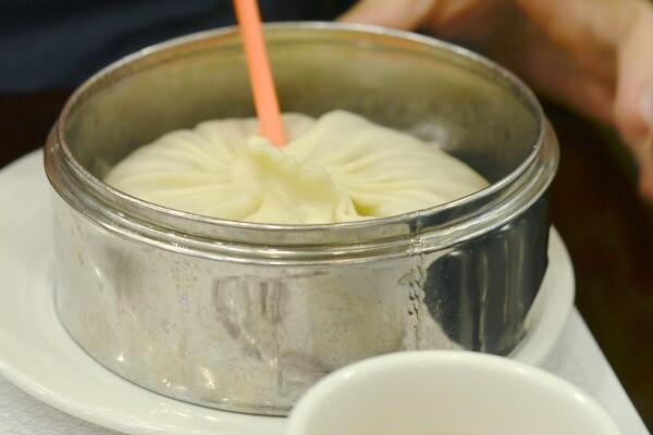 Massive soup dumpling | Photo by Clarissa Wei