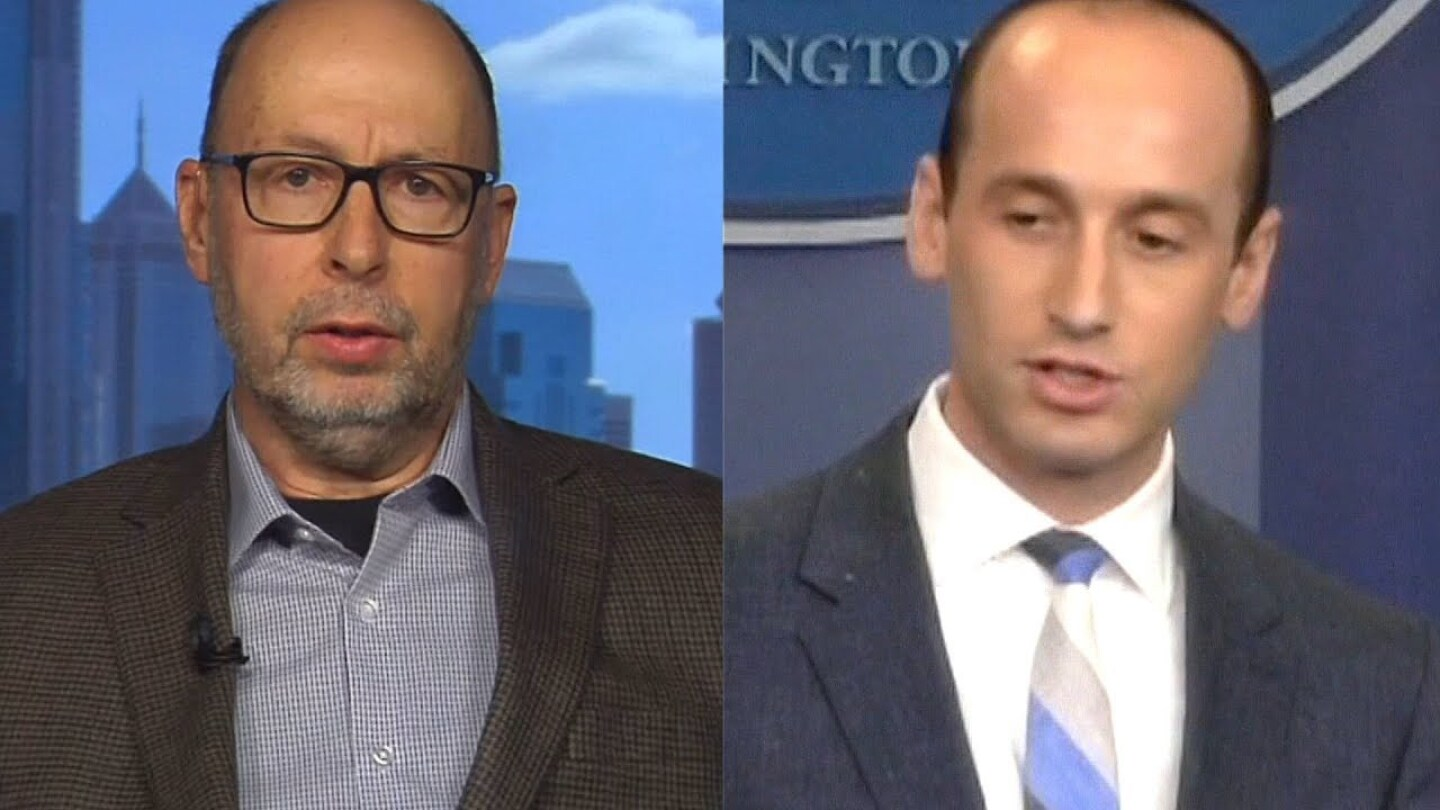 David Glosser (left) and Stephen Miller (right) | Still from Democracy Now!