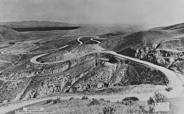 Ridge Route in the 1920s. Courtesy Metro Transportation Library and Archive.