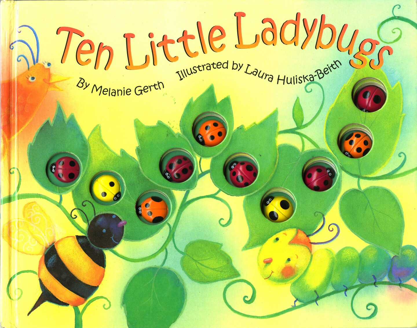 """Book cover of """"Ten Little Ladybugs"""" written by Melanie Gerth and illustrated by Laura Huliska-Beith"""