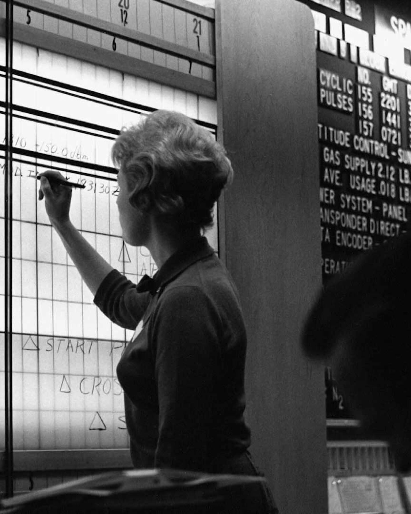 "Sue Finley making calculations on the board. | Still from ""Blue Sky Metropolis"" Episode 4"