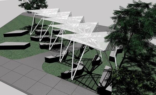 Sci-Arc's original design for the Glassell Park Transit Pavillion | Image courtesy of Helene Schpak