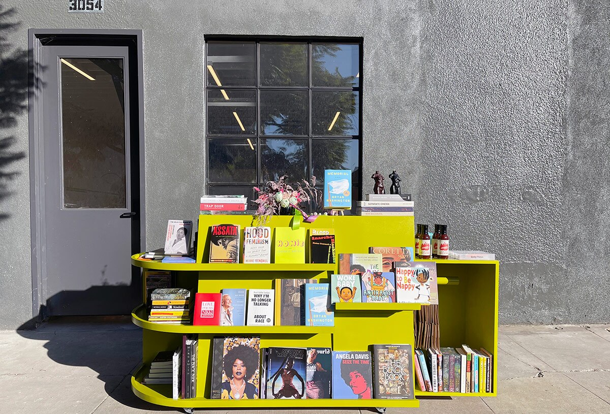 Reparations Club's kiosk for curbside shopping. | Courtesy of Reparations Club