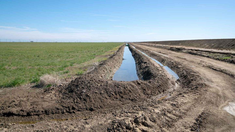 Canal along agricultural field near Los Baños, California. | Carla Pineda