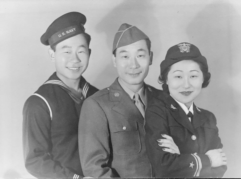 "Ahn siblings during World War II | Courtesy of ""Asian Americans"""