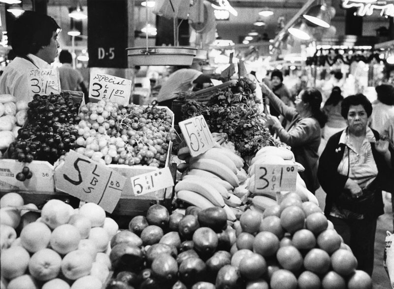 Grand Central Market on its 75th anniversary in 1987 | Mike Sergieff / Herald-Examiner Collection at the Los Angeles Public Library
